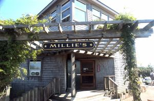 Millie's entrance
