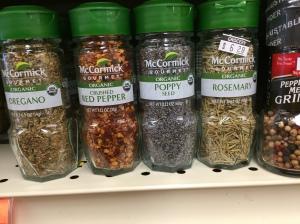 McCromick organic spices