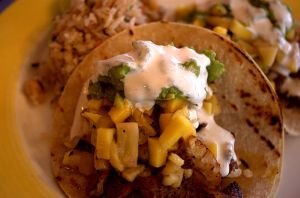 Blackened redfish taco