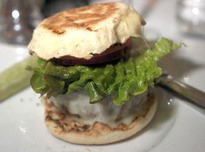 Assembled burger
