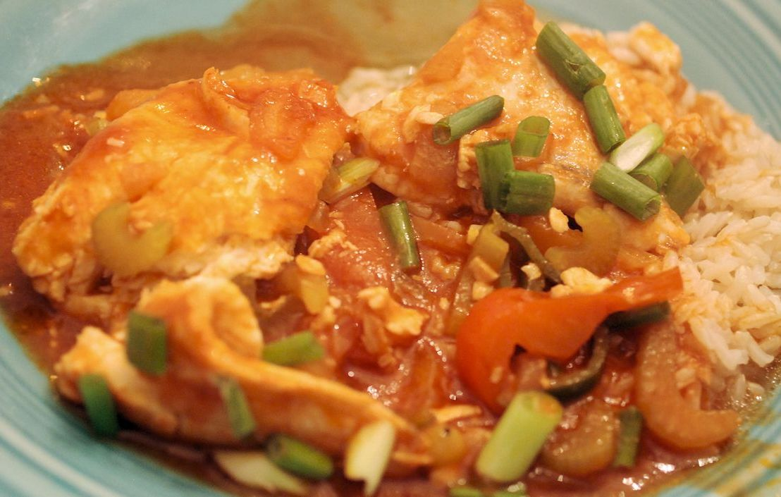 Cod Creole: an easy fish dish adding great flavors to white fish