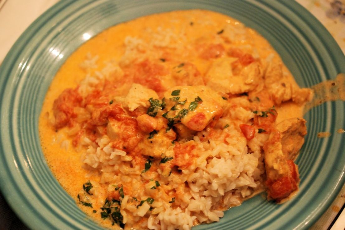 Butter chicken: an authentic Indian dish