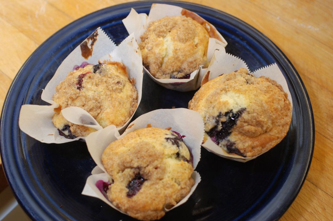 Terrific blueberry muffins without foilwrappers