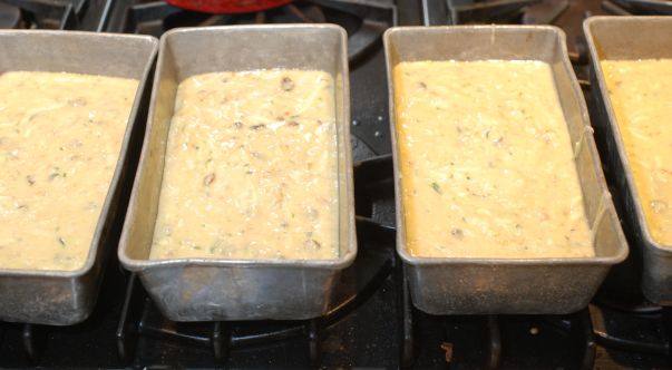 4 pans filled