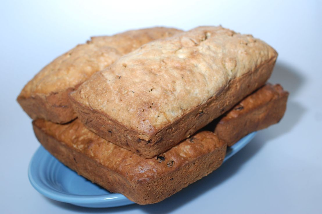 Zucchini bread: make four loaves at atime