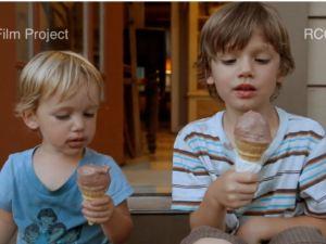 boys with cones