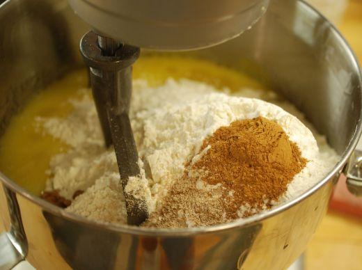 flour and spices