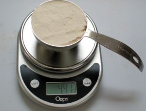 weigh flour