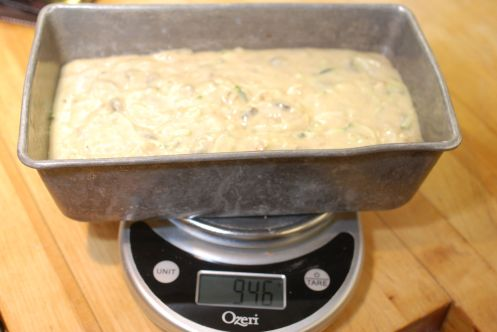 weigh pan with batter