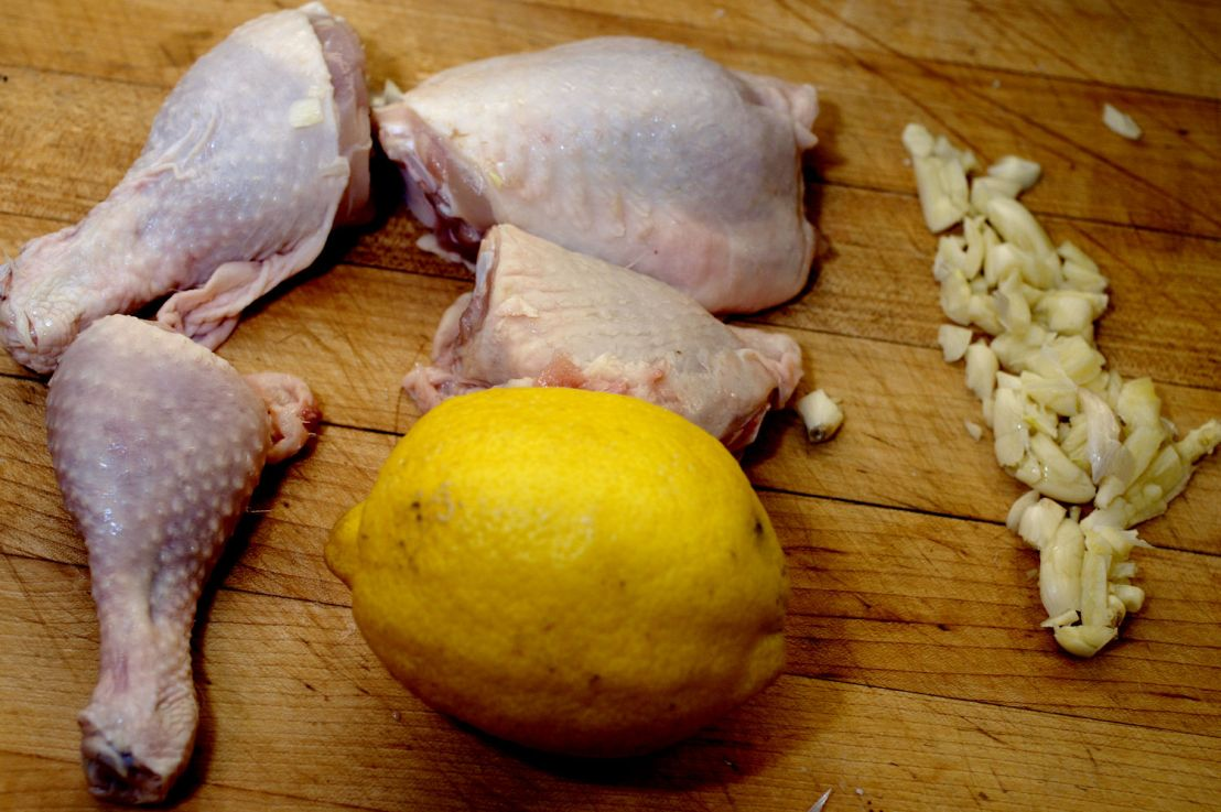 Lemon garlic chicken in the Instant Pot