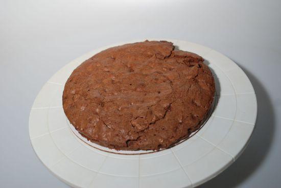 Chocolate brownie layer