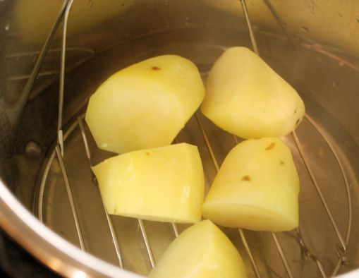 Cooked potatoes