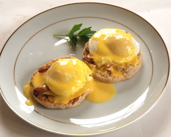Eggs Benedict for a special breakfast