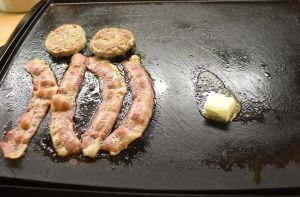 bacon sausage butter