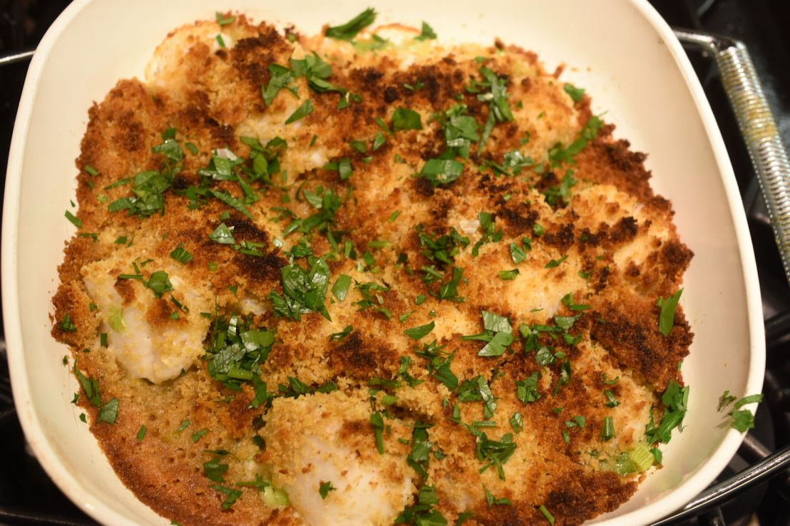 Baked sea scallops in less than 30 minutes