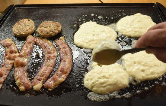 pour pancakes