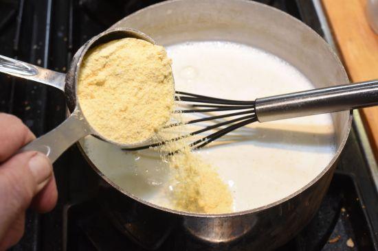 Stir cornmeal