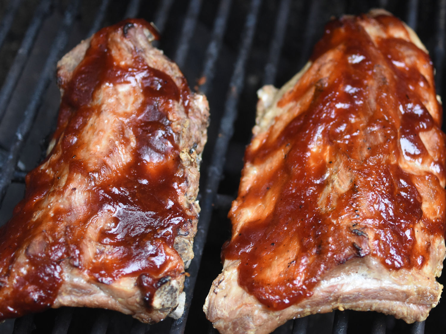 half barbecued