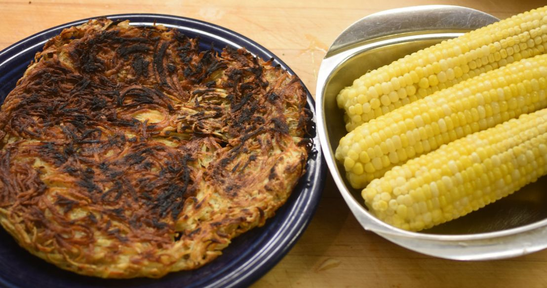 hash browns and corn