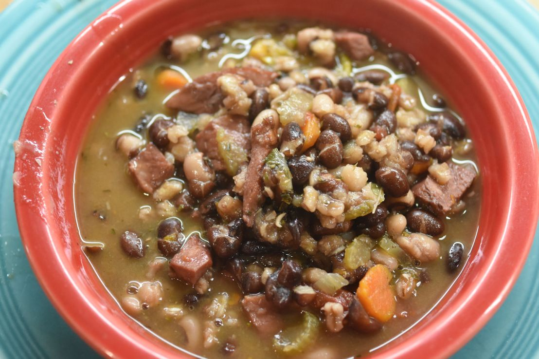 Ham and bean soup in an Instant Pot