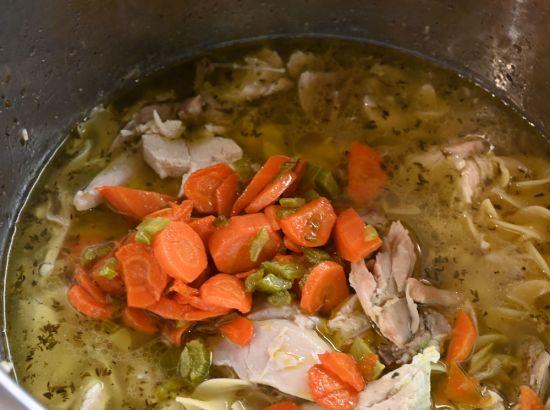 add chicken aand veggies