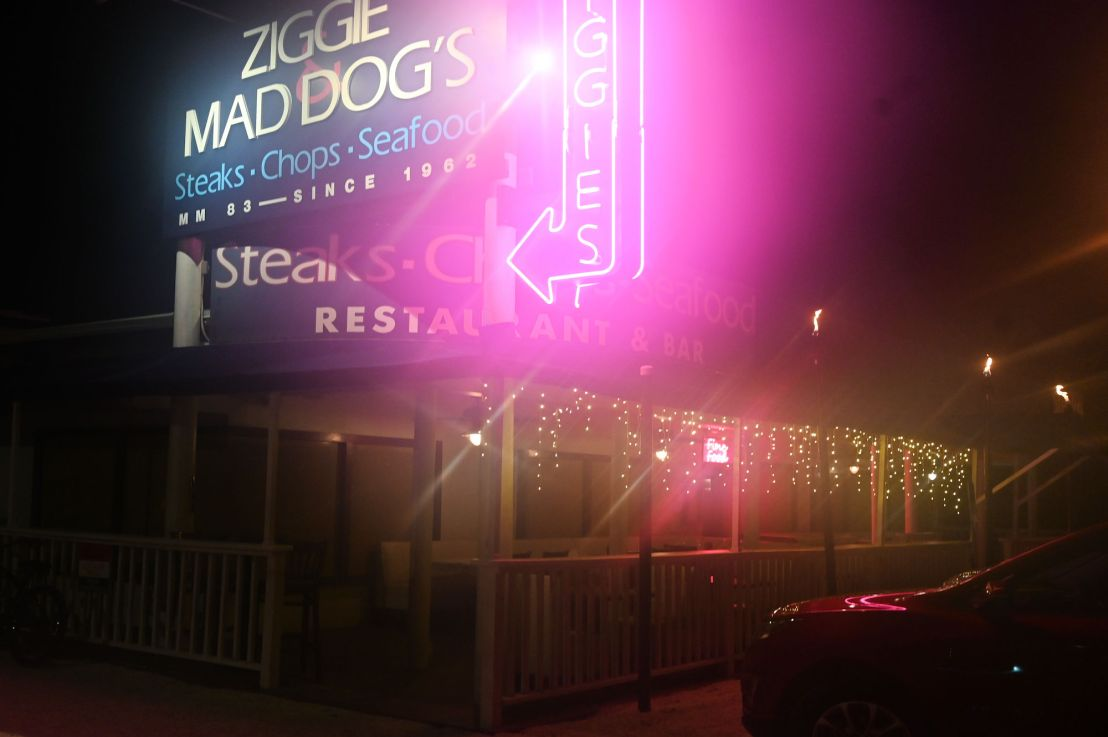 Ziggie and Mad Dog's steakhouse—Islamorada