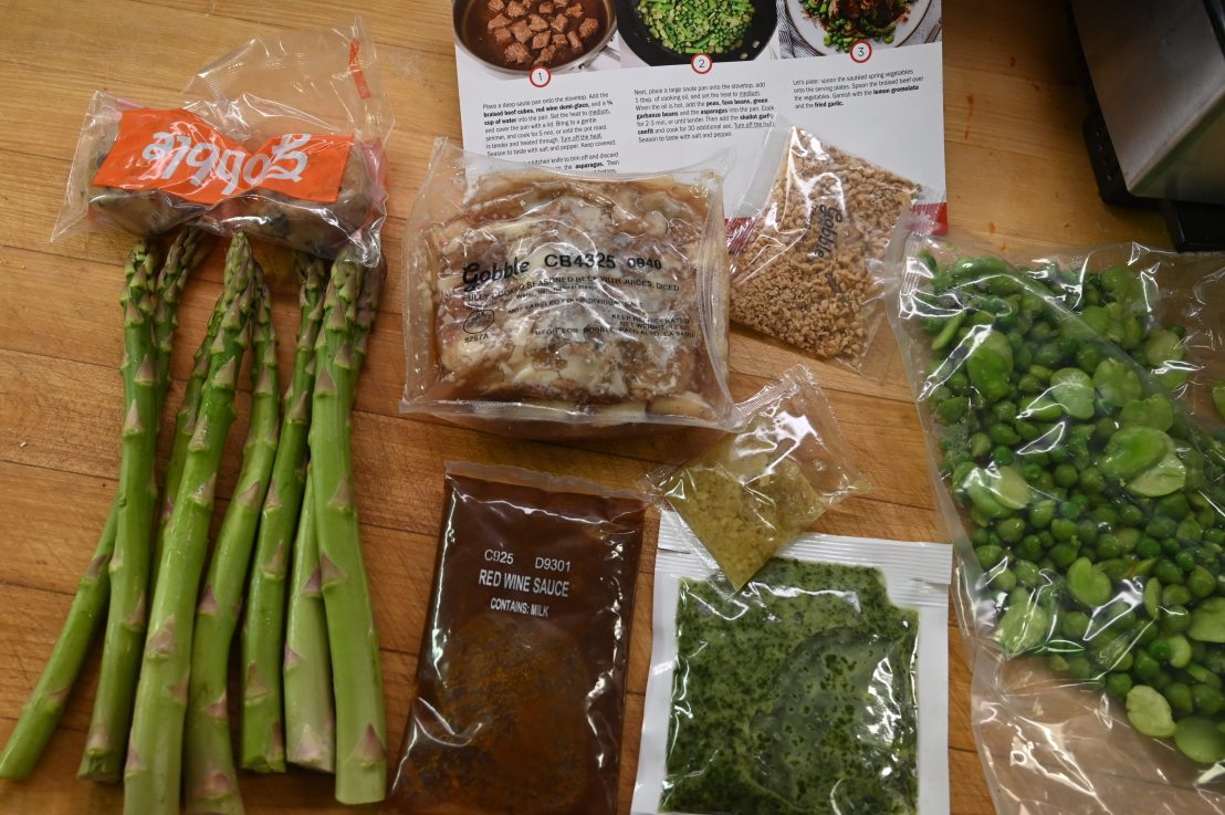 "Meal kits: we try out ""Gobble"""
